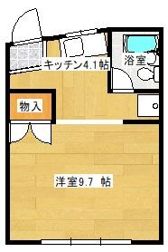 エルモア益田駅前 302号室の間取り図