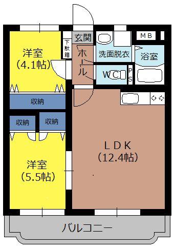 インフィニティ 203号室の間取り図