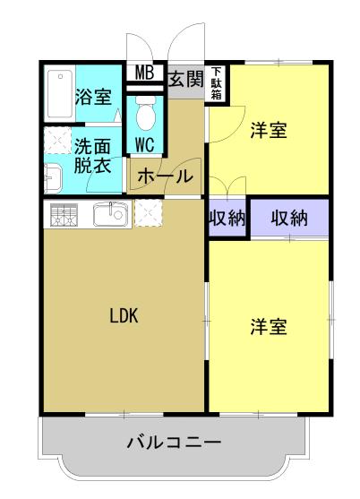 ベルフラワー 303号室の間取り図