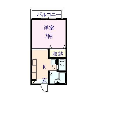 リーガルポイント 201号室の間取り図