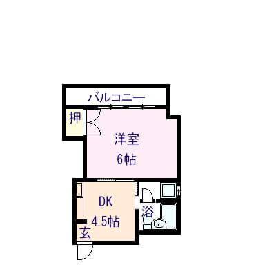 BSマンション 201号室の間取り図