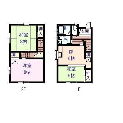 メゾンドファミーユ 103号室の間取り図