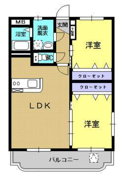 エコーズガーデンII 302号室の間取り図