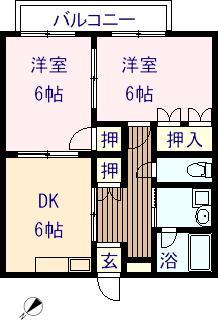 コンフォートM 102号室の間取り図