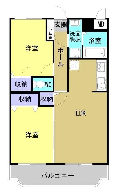 ウィズダム 101号室の間取り図