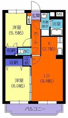 ウィズダム 201号室の間取り図