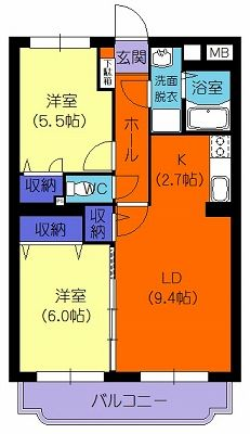 ウィズダム 203号室の間取り図