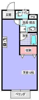 Lifeあけぼの 104号室の間取り図