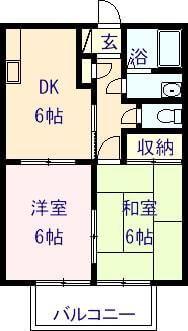 リーブ三宅 103号室の間取り図