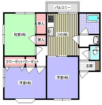 メゾネット須子 102号室の間取り図
