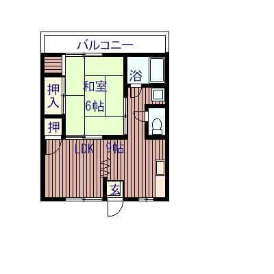コーポ太平 205号室の間取り図