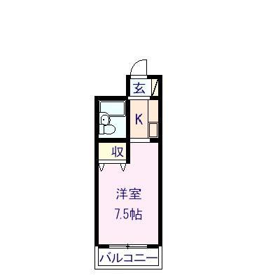 マンションルーブル 505号室の間取り図