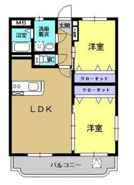 エコーズガーデンII 201号室の間取り図