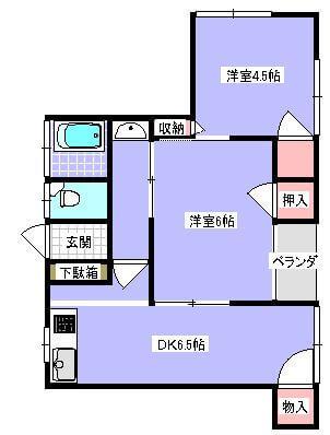 島田AP 201号室の間取り図