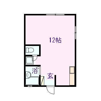 サンハイム 102号室の間取り図