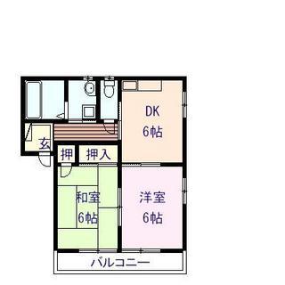 紅葉ヶ丘第3ハイツ 202号室の間取り図