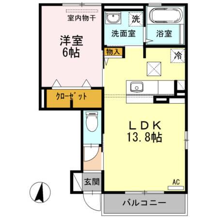 エンテ・インゼル 103号室の間取り図