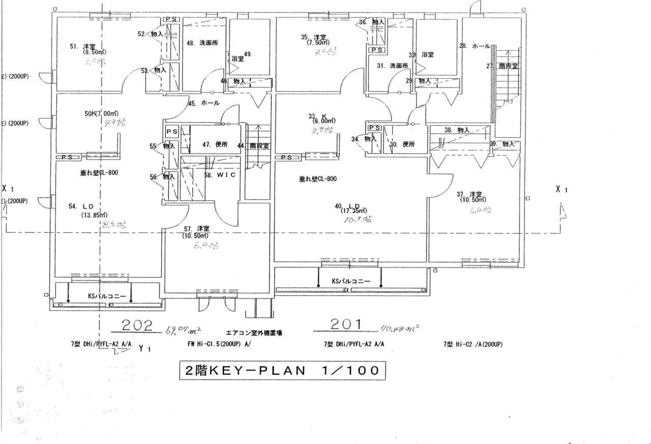 シャーメゾンツーセント・ドゥア 201号室の間取り図