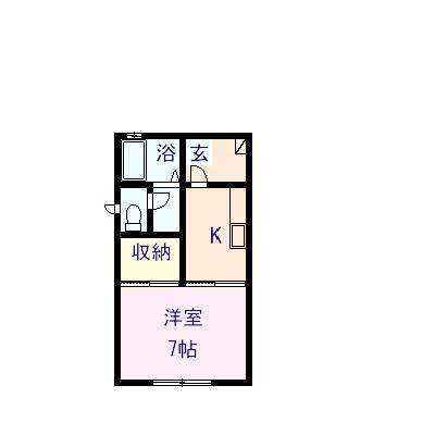 クローバーハウス藤田 101号室の間取り図