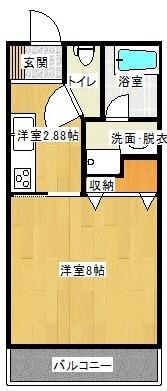 ナチュール土井 203号室の間取り図
