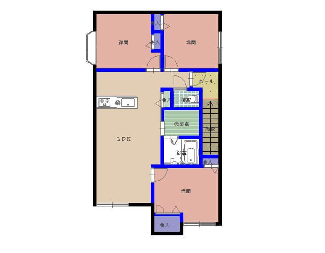 シャーメゾン水分B 201号室の間取り図