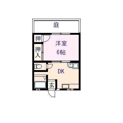 エルモア乙吉 105号室の間取り図