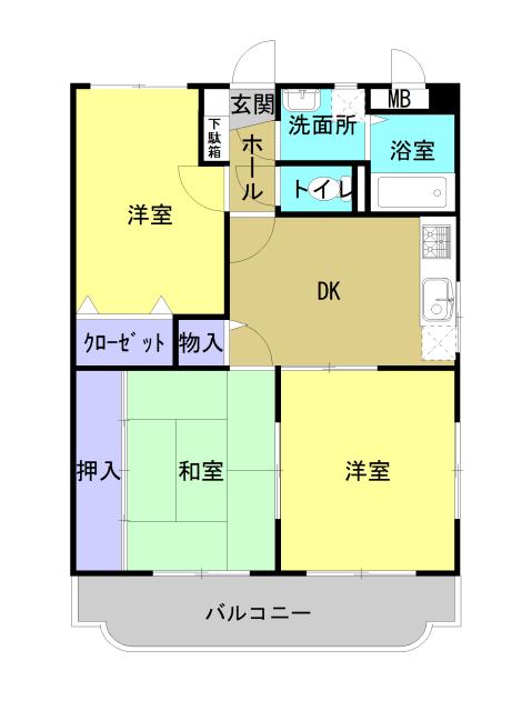 エコーズガーデン 201号室の間取り図