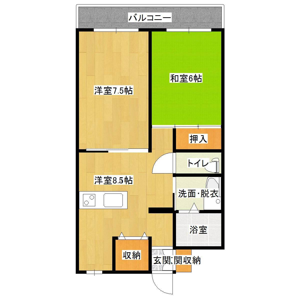 メゾン京町 101号室の間取り図