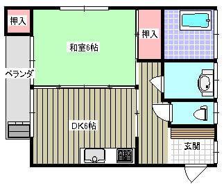 島田AP 202号室の間取り図