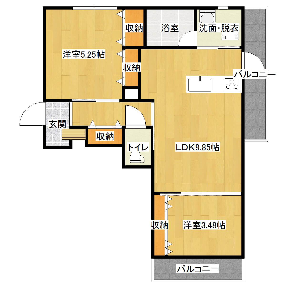 メゾン常盤 101号室の間取り図