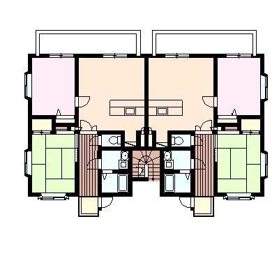 ベルハイム秋 201号室の間取り図