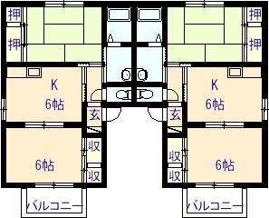 リーブ三宅2 101号室の間取り図