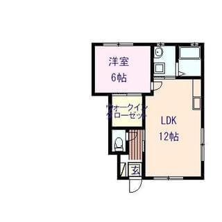 リオ三宅 101号室の間取り図