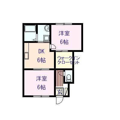 リオ三宅 102号室の間取り図