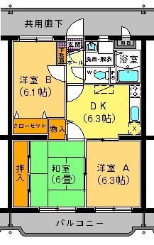 ユーミー・イワミ 101号室の間取り図