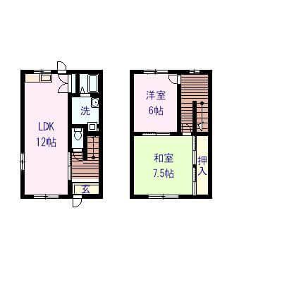 メゾン11 D号室の間取り図