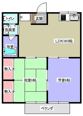 ハイツKT 202号室の間取り図