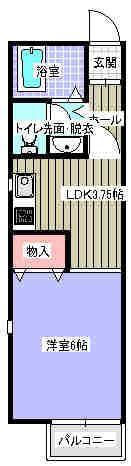 ハーモニーハイツ 203号室の間取り図