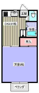 リアルエステート 101号室の間取り図
