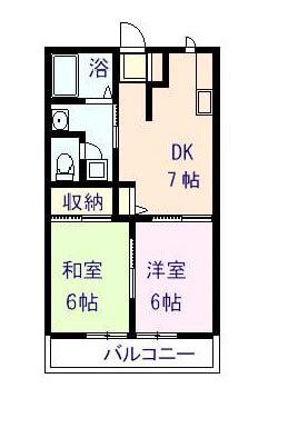 サンピラー昭和 201号室の間取り図