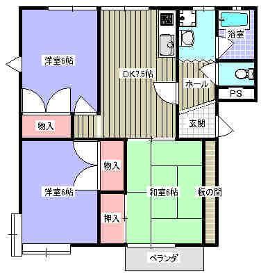 コスモスA 201号室の間取り図