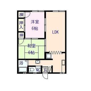 ファミーユ 102号室の間取り図