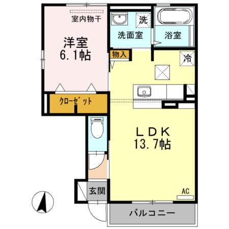 エンテ・インゼル 101号室の間取り図