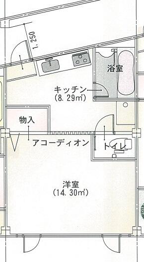 エルモア益田駅前 202号室の間取り図