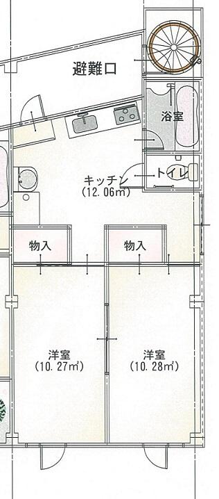 エルモア益田駅前 205号室の間取り図