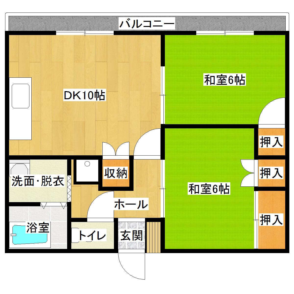 サンハイム 202号室の間取り図