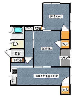 島田AP 301号室の間取り図