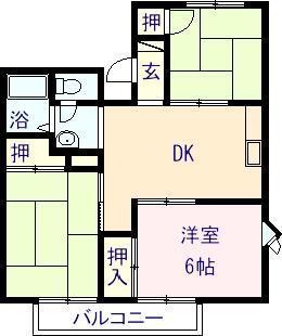 エル乙吉 201号室の間取り図