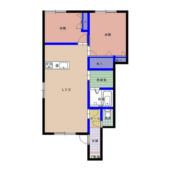 シャーメゾン水分A 101号室の間取り図