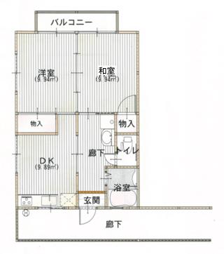 エルモア乙吉 208号室の間取り図